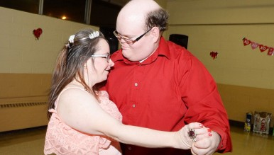 Abilis hosted it annual Valentine's Day Dance at the Eastern Greenwich Civic Center, much to the excitement of around 100 Abilis clients who enjoyed games, food and, of course, dancing. (John Ferris Robben photo)