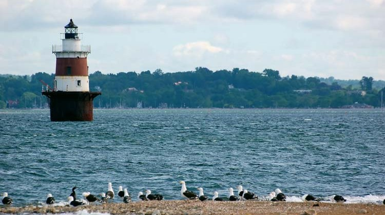 Lighthouse off Norwalk Islands in Long Island Sound. Photo by Cynthia Ehlinger/ Bruce Museum