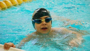 BGCG swimmer in the Clubhouse pool during the 2016 Swim-A-Thon. Photo Contributed by Boys & Girls Club of Greenwich