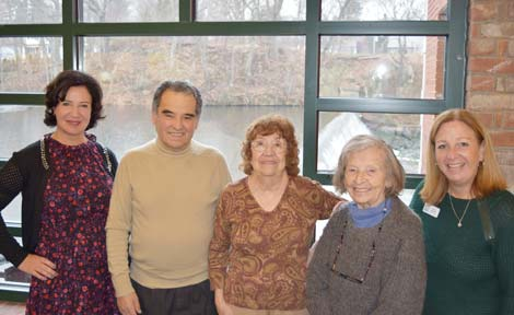 """Robie Spector and Donna Spellman with River House clients who have benefited from the """"Fund a Client"""" program."""