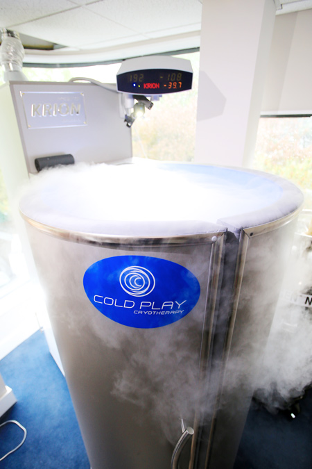 One of Cold Play's cryotherapy areas at their whole-body cryotherapy center  and recovery lab in Greenwich. (contributed photo)