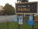 Peru City Illinois Sign