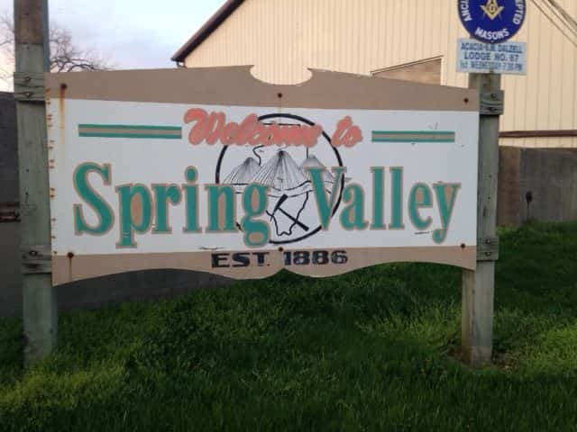 Spring Valley City Sign
