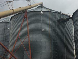 Grain Bin Corn Soybeans wheat harvest fall