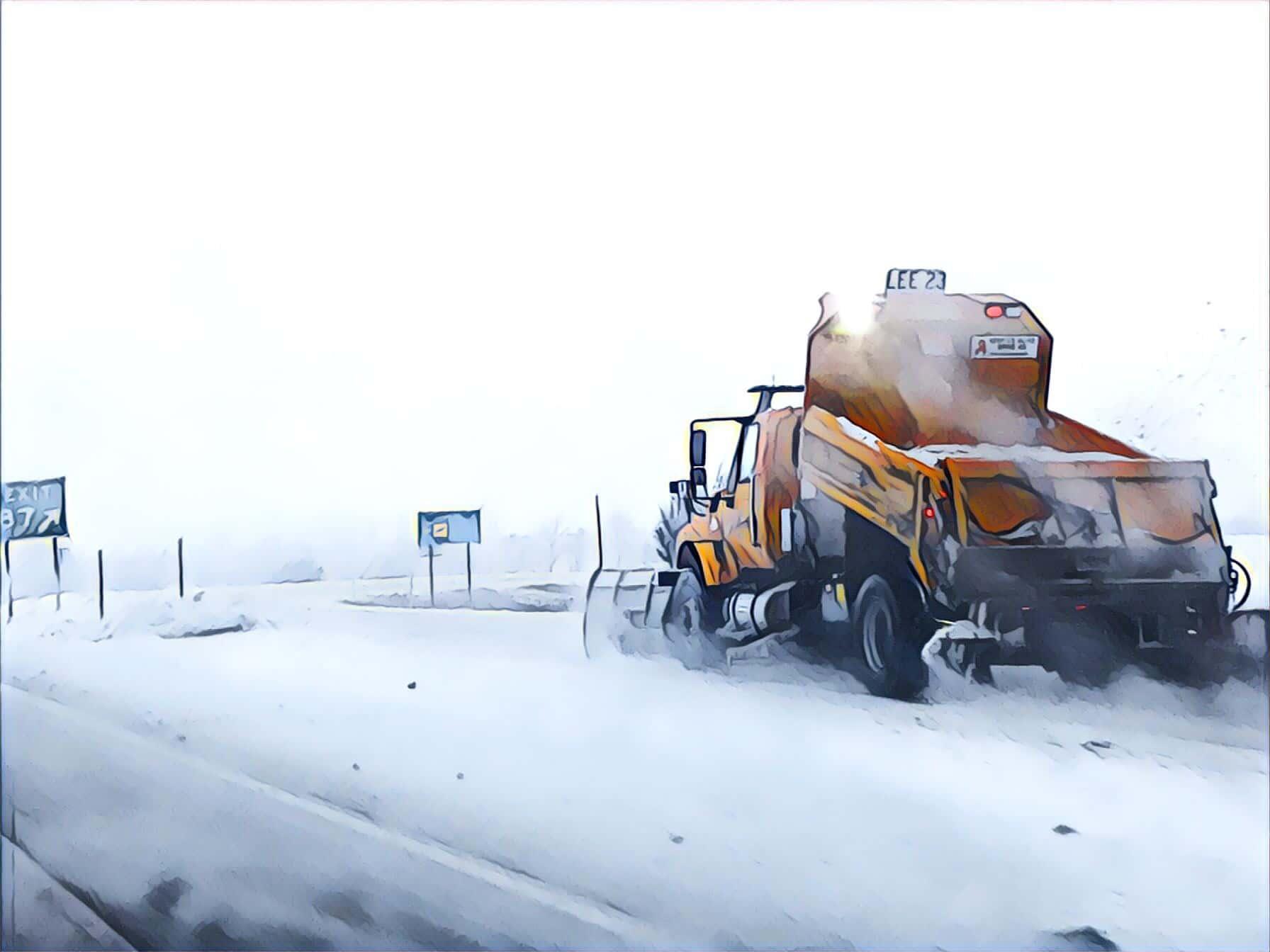 IDOT Snow Plow Salt Truck Winter Road Interstate