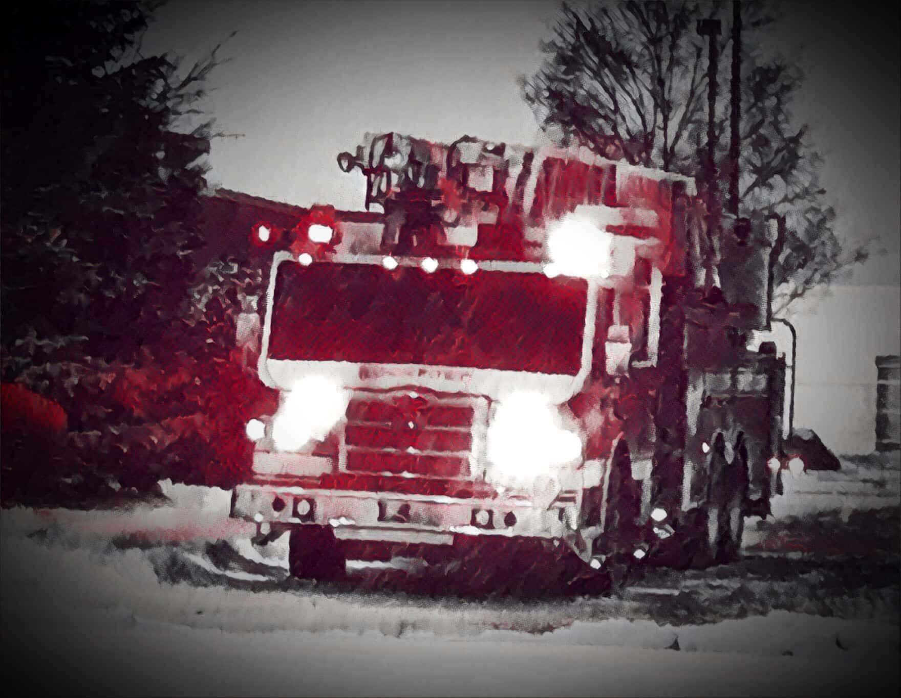 Fire Truck Fire Department Stock Photo