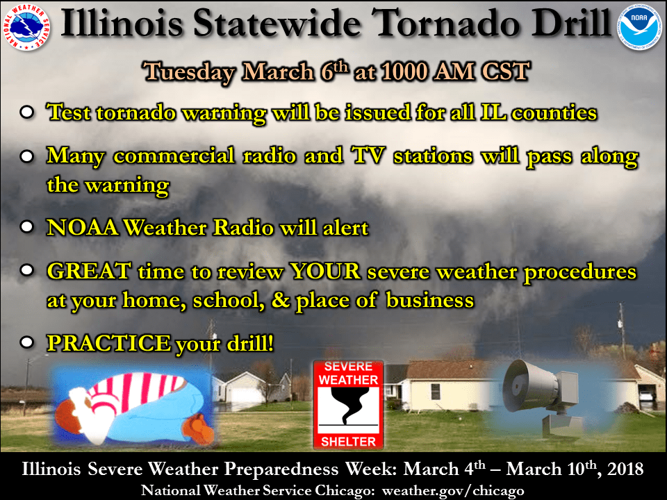 Statewide Tornado Drill Today | WGLC