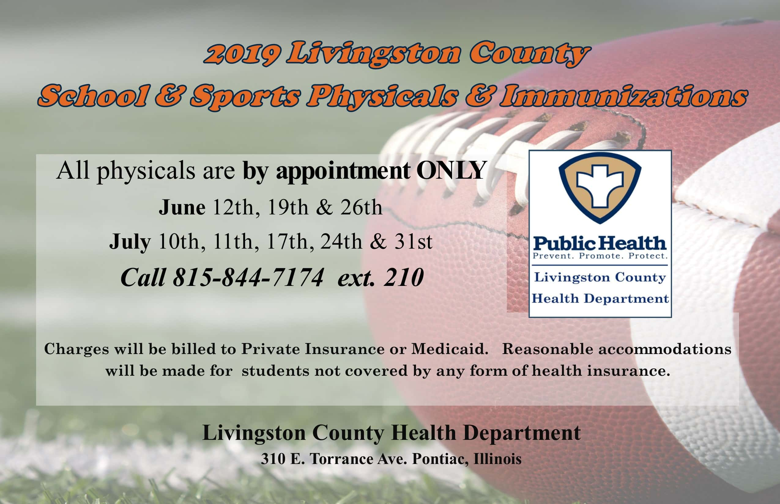 sports physical form illinois 2019  Livingston County now offering school and sports physicals ...