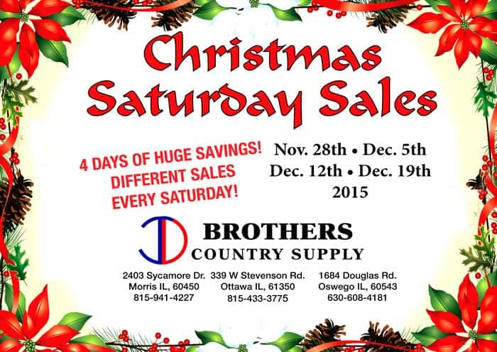 Brothers Country Supply Holiday Sales Wyys