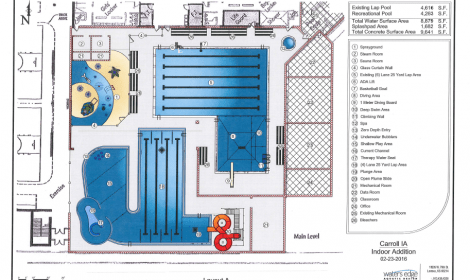 Indoor pool expansion proposed for carroll rec center for Pool design center