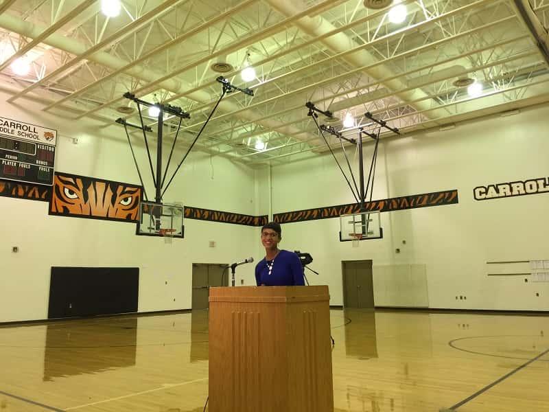 Carroll Middle School Teacher Surprised With Golden Apple Award
