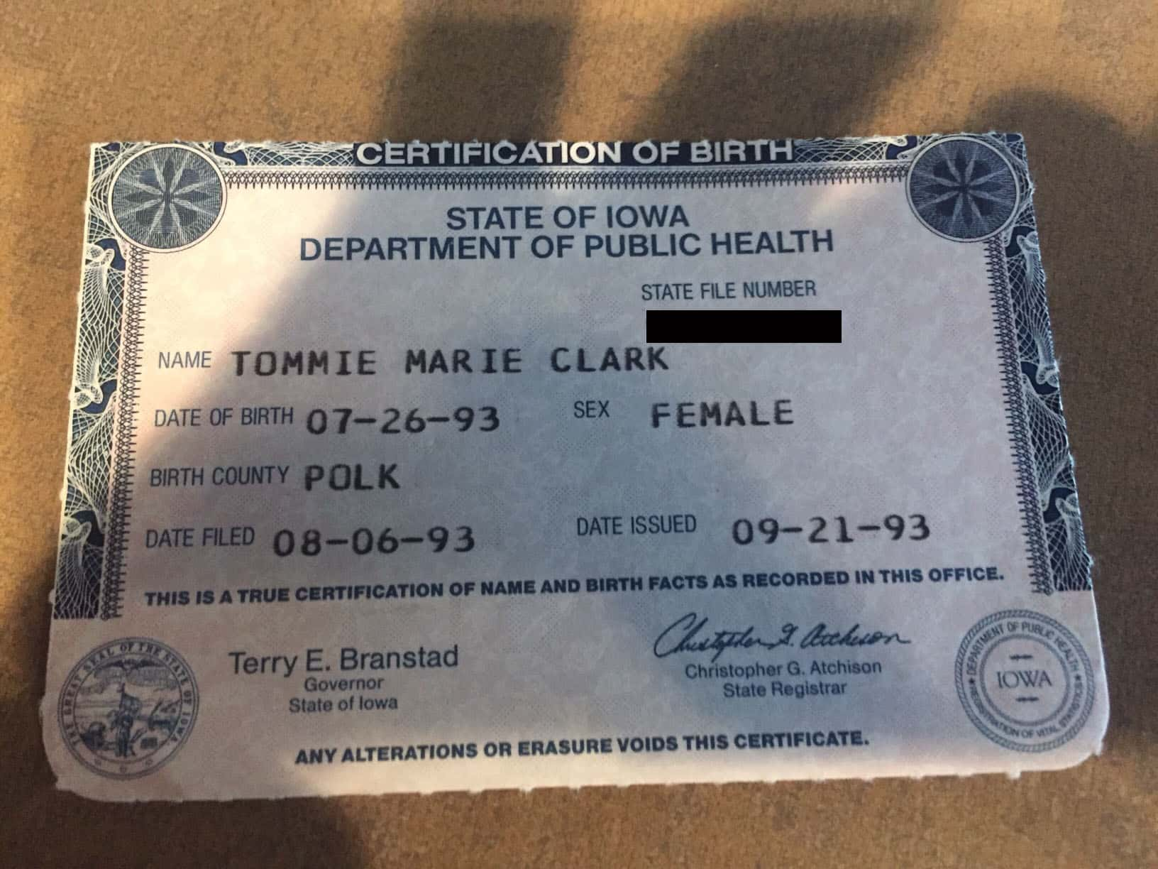 birth certificate replacement certificates office county issuing