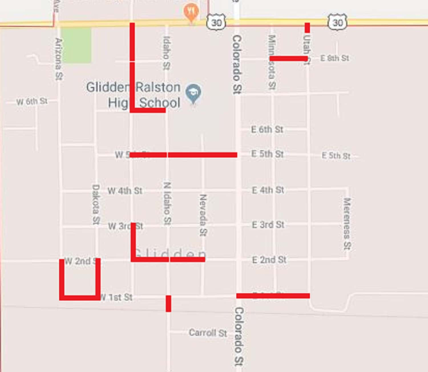 glidden accepts bid for summer road construction projects