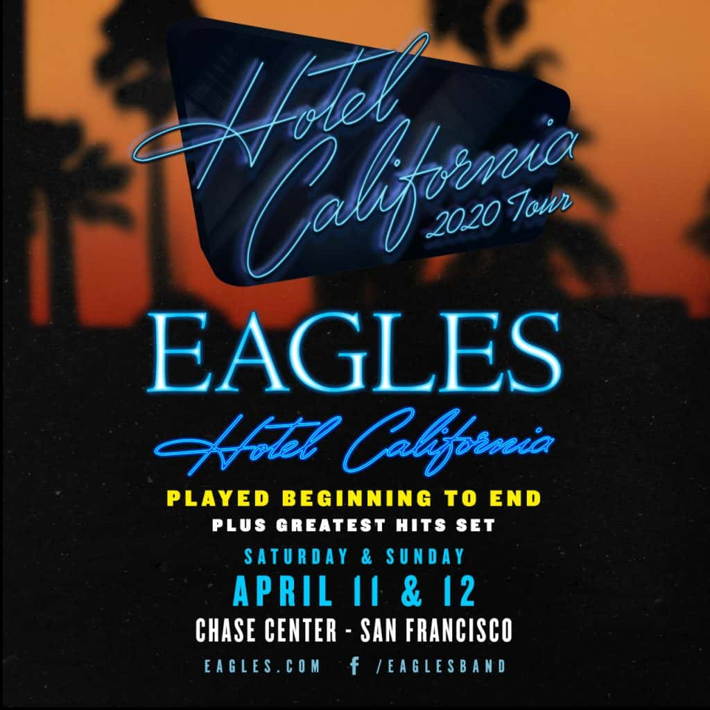 the eagles hotel california 2020 tour kozz. Black Bedroom Furniture Sets. Home Design Ideas