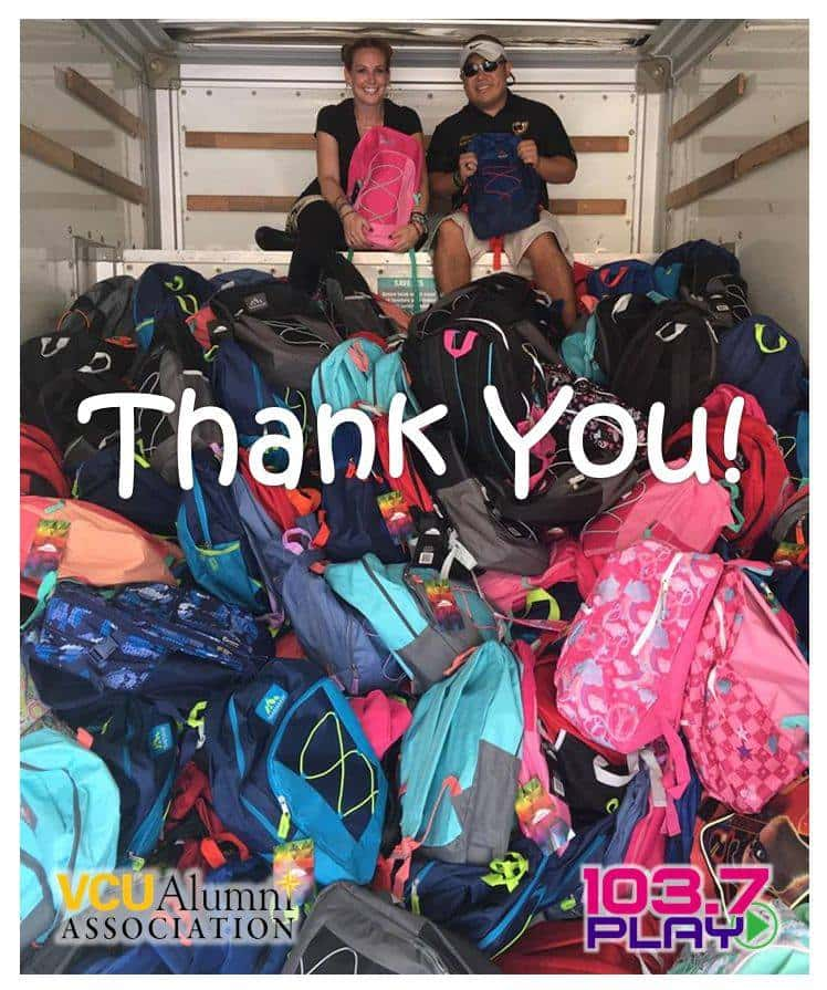 Ultimate Backpack Supply Drive | WURV | 103 7 Play