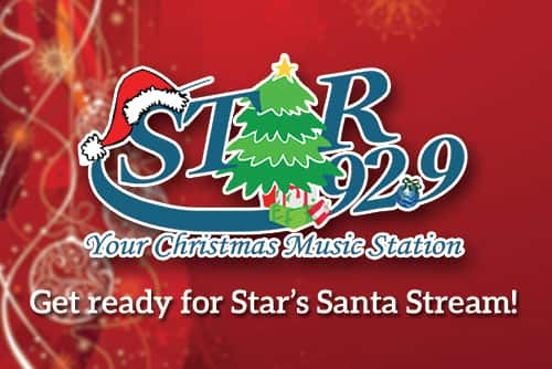 Stream Christmas Music.Get Ready For The Santa Stream Star 92 9