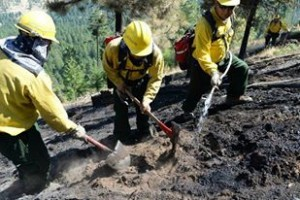 ODF facebook fire crews with shovels