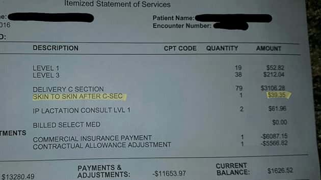 Utah Dad Posts Hospital Bill With Fee For Skin To Skin