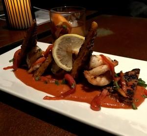 Warm shrimp cocktail