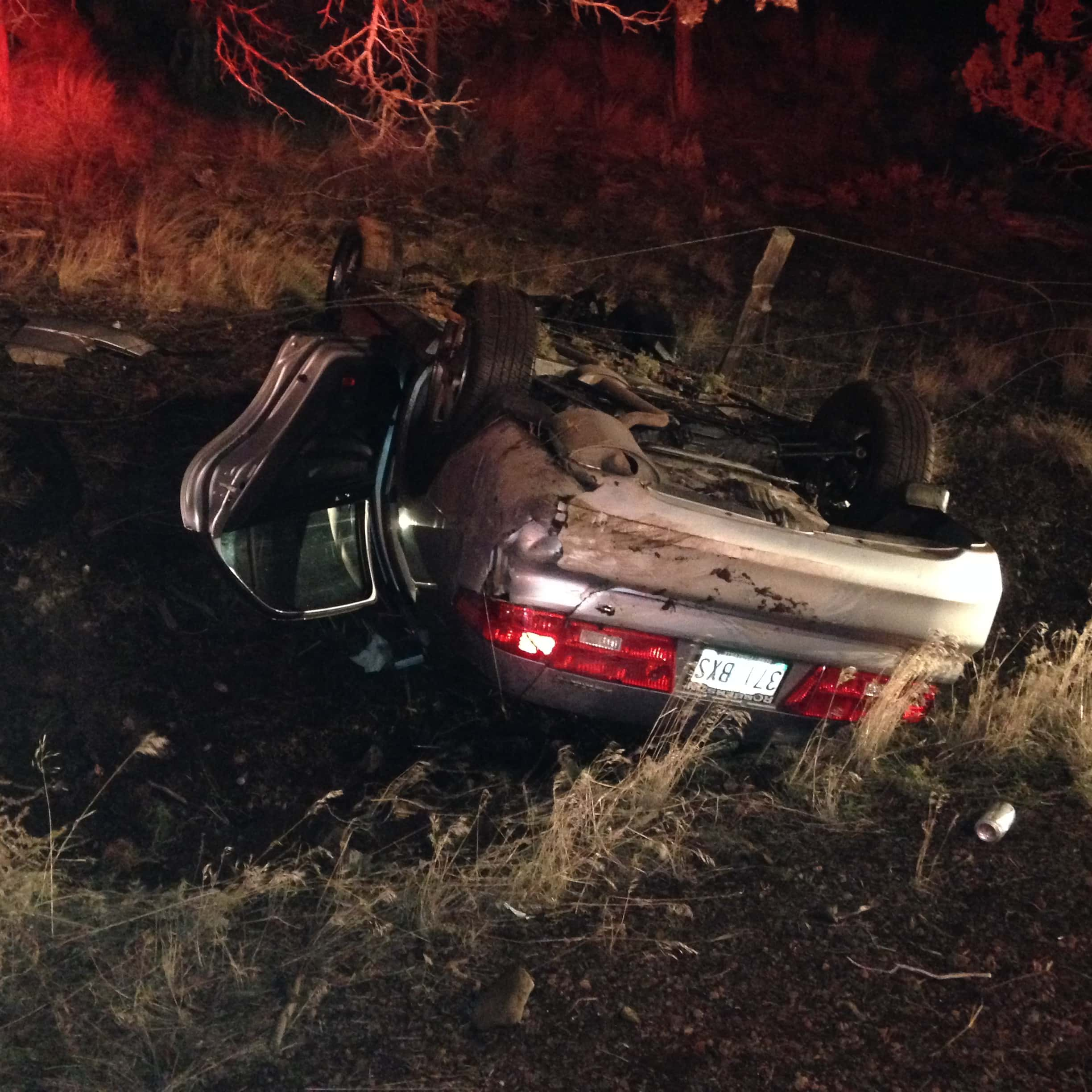 Injury Accident Lands A Vehicle Upside Down In Prineville