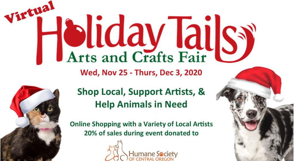 Holiday Tails Arts & Craft Fair goes Virtual to benefit Homeless Animals | MyCentralOregon.com