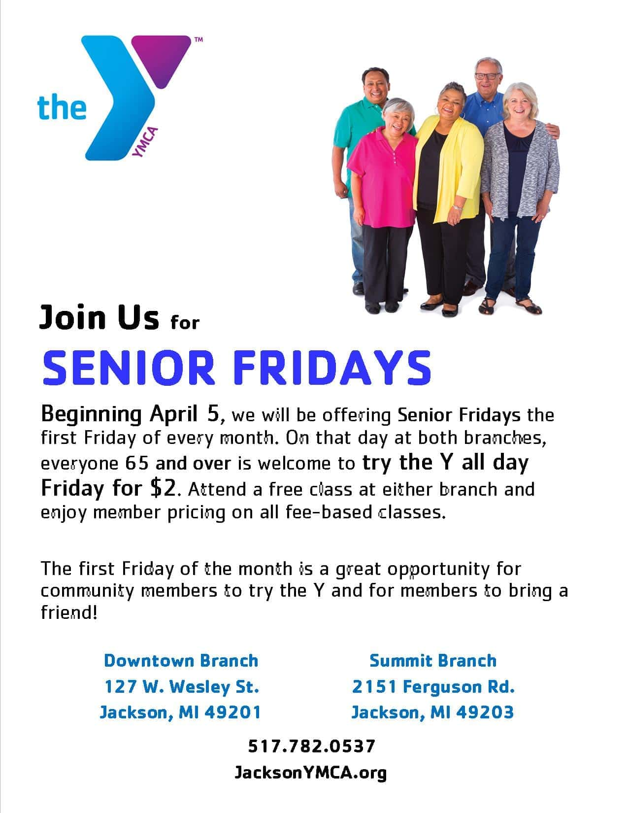 YMCA – Senior Fridays | WKHM-AM