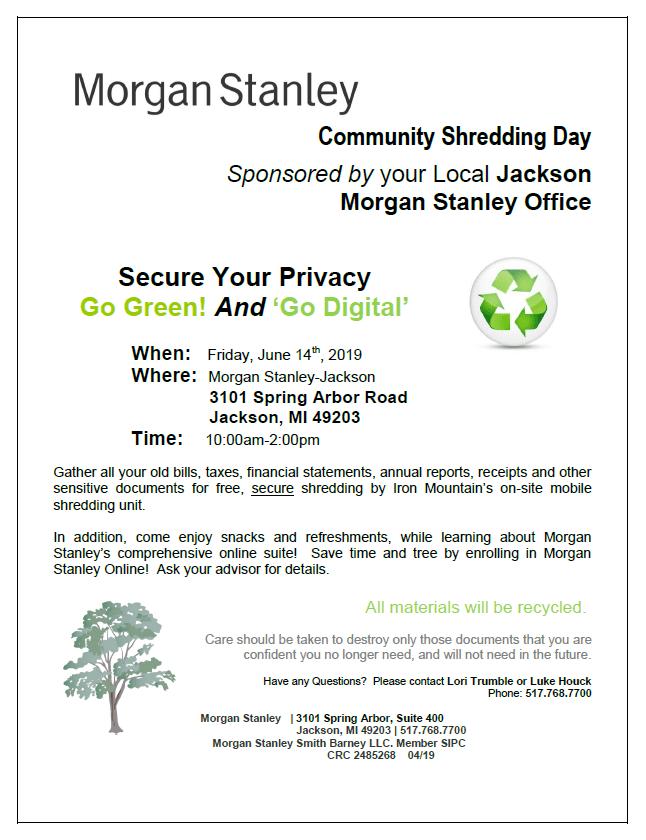 Community Shredding Day   WKHM-AM