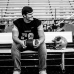 """Ethan Hawkins: """"Ethan is a Senior at Madison Grant. He has played all four years of football and three years of baseball due to the school year ending early. Ethan was named All Conference in Football this year and was picked to be on the East/West All Star Game. I am so proud of you and the man you are becoming. I could not have asked for a better son. Love, Mom."""""""
