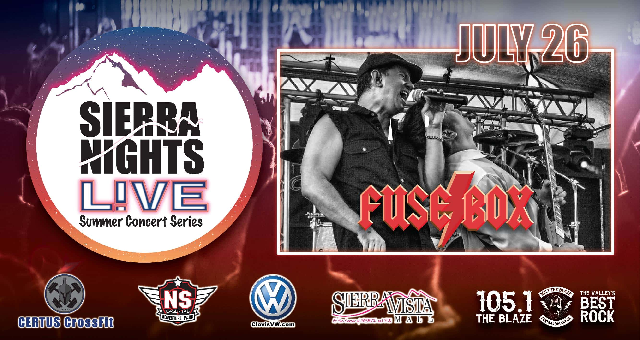 Sierra Nights Live Presents Fuse Box Vista Mall 105 1 The Series