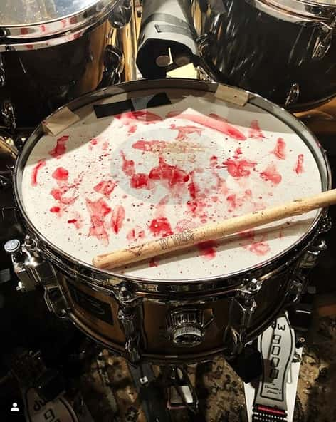 PHOTO: How Heavy is the New Slipknot Album? Check Out This Bloody