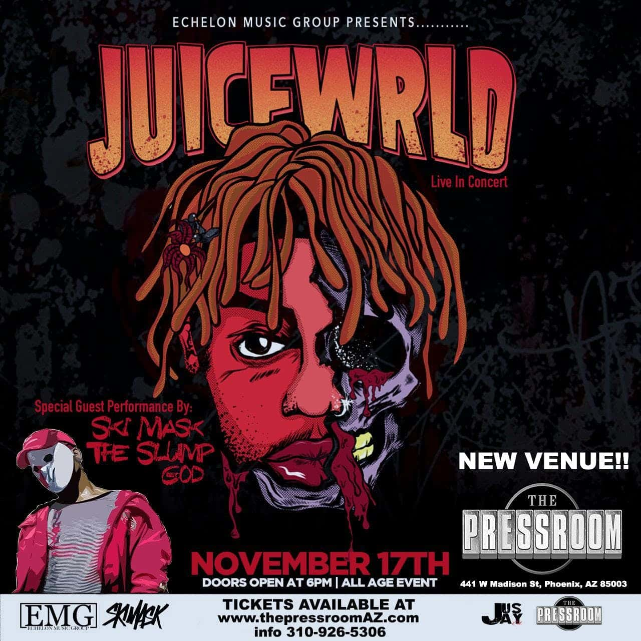 Juice Wrld w/ Ski Mask The Slump God   101 1 The Beat