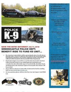 GPD K9 Benefit Ride