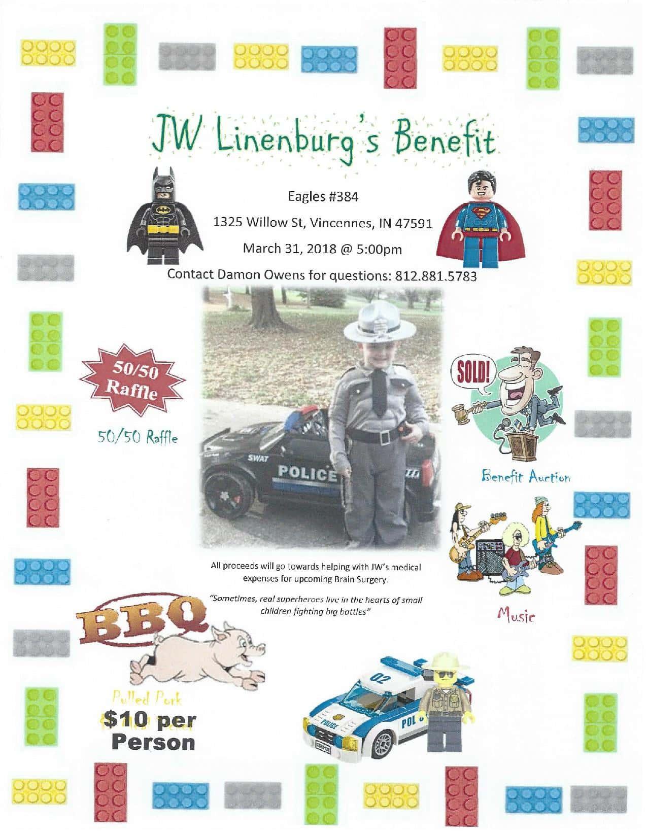 Benefit for J  W  Linenburg | WAOV 97 7FM