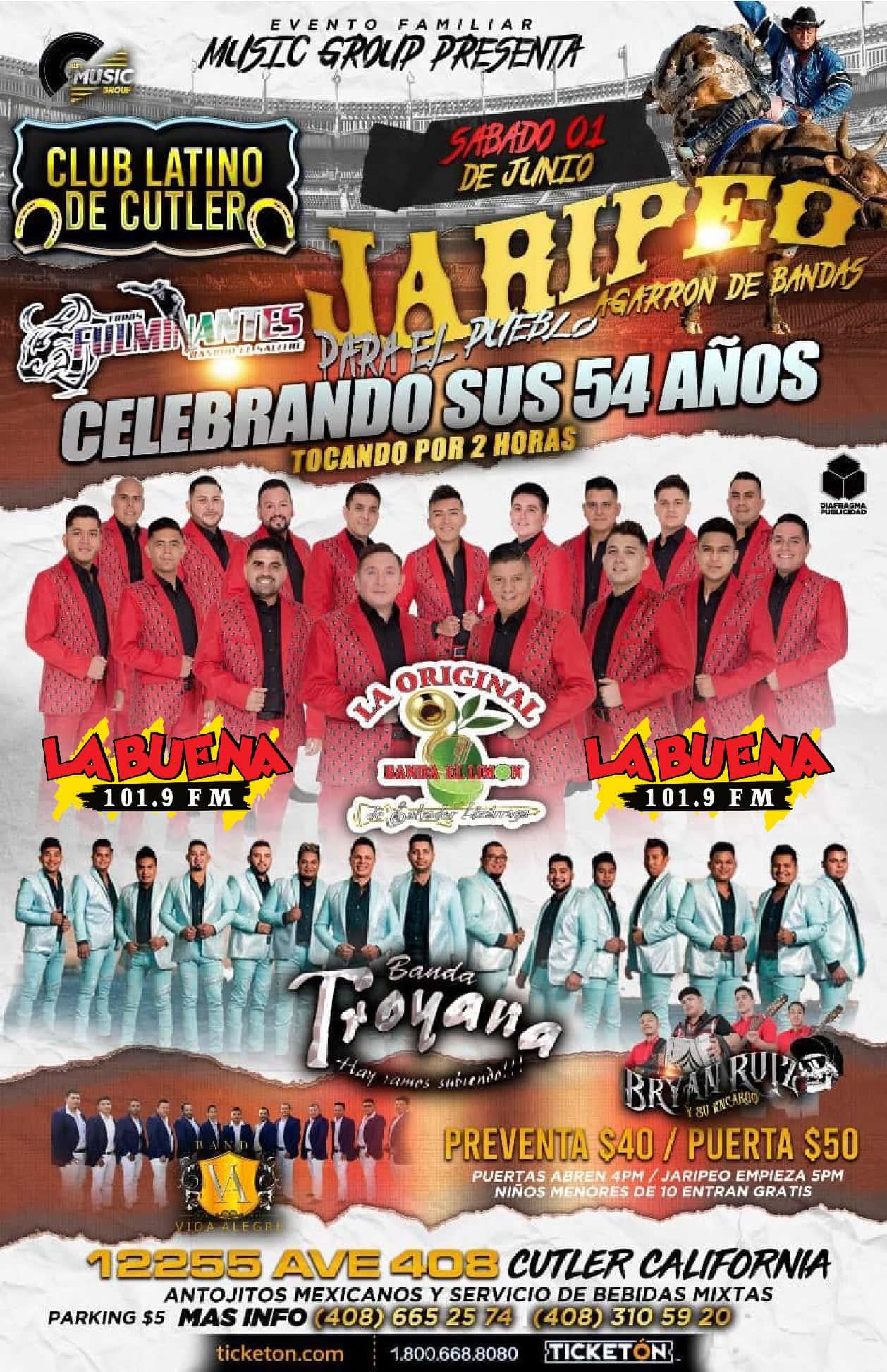Jaripeo/Baile La Original Banda El Limon   La Buena 101 9