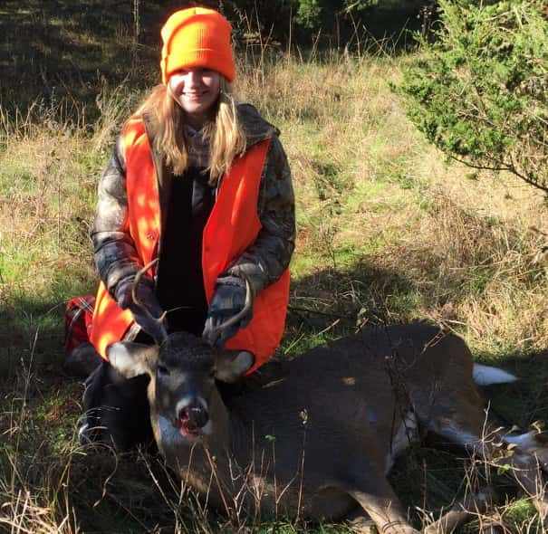 Allie Kotrous with her 1st Deer