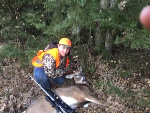 Andrew Koehlmoos, age 13, 2x2 with 270 Saturday morning south of Chambers