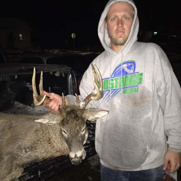 Andrew Schmidt shot opening night on public land near Yankton SD. 5x5 1st buck