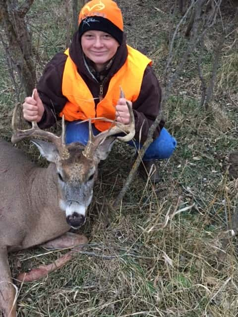 Colton Thiele from Clearwater, shot on Thursday evening. (Proud aunt Tina was hunting with him!)