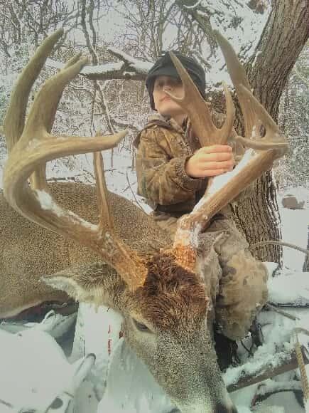 Dusty Dobias with a nice buck.