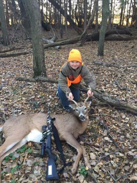 Hunter Butts First Deer