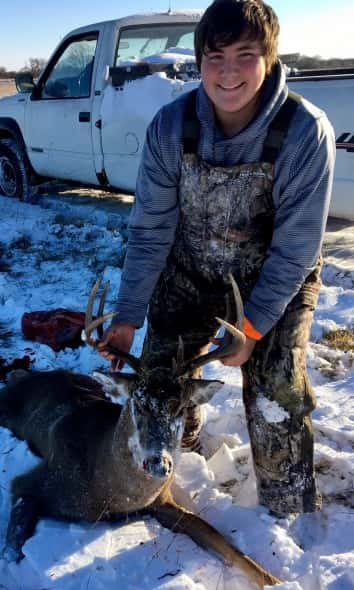 Hunter McClellan and his 6x4 shot south of O'Neill on 11/19 with his .270 wsm