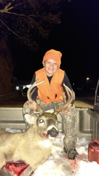Jase Kotrous, age10, first deer and a nice 5x5