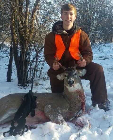Kolby Dean's 1st deer a 3X4