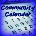 Community Calendar KVAK Tile - OPTION 2 (Blue)