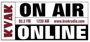 KVAK On-Air & Online Logo
