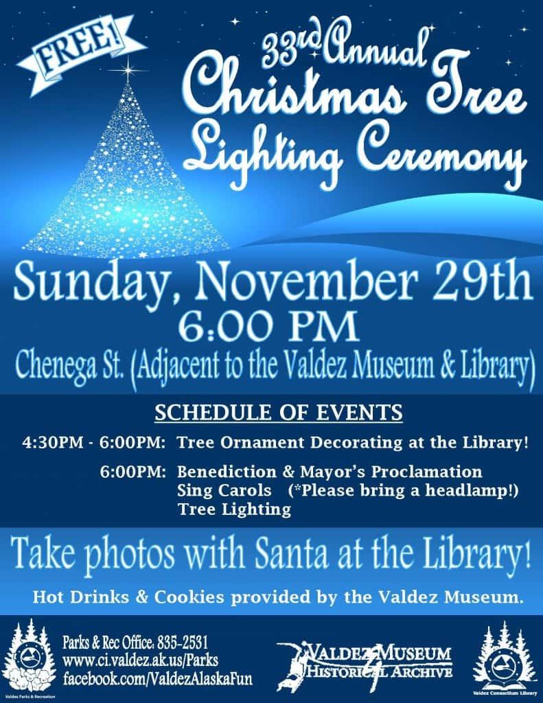 Tree Lighting Ceremony - 2015 Flyer