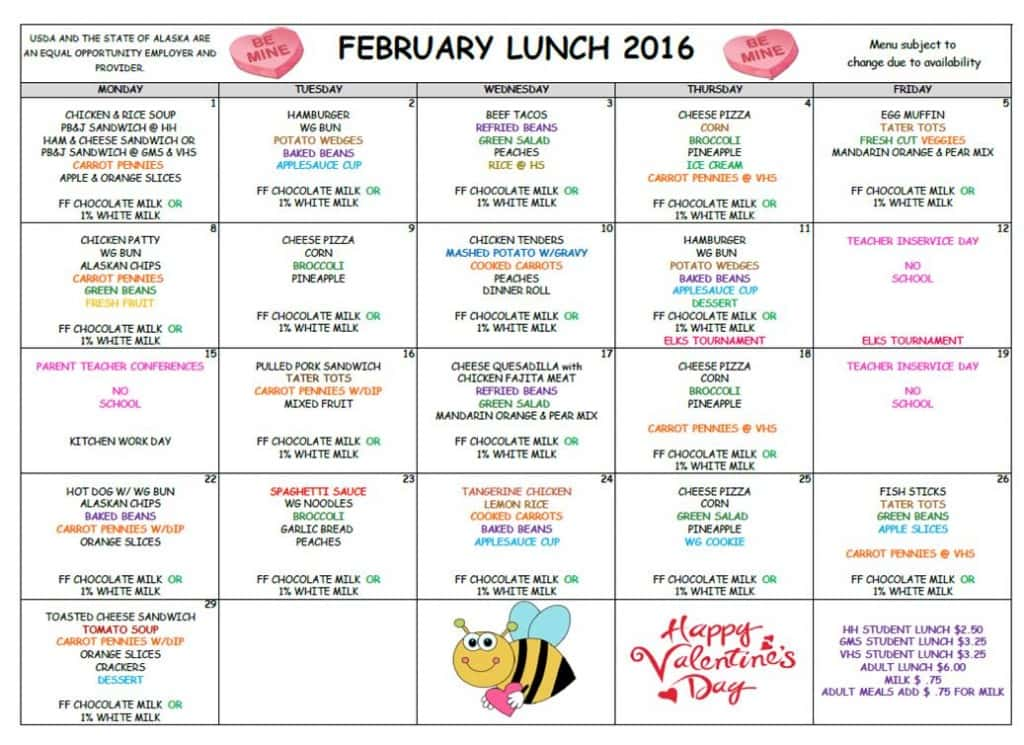 February 2016 Lunch