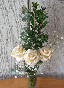 1) White Chocolate Covered Strawberry Roses