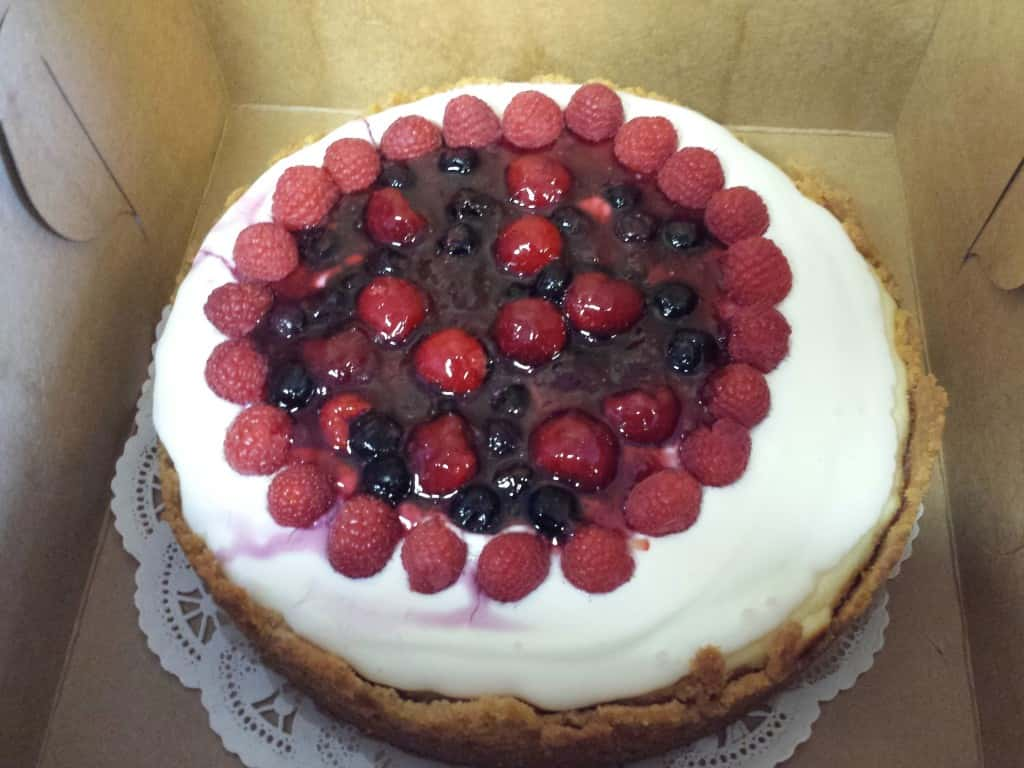 18) Classic Triple Berry Cheesecake
