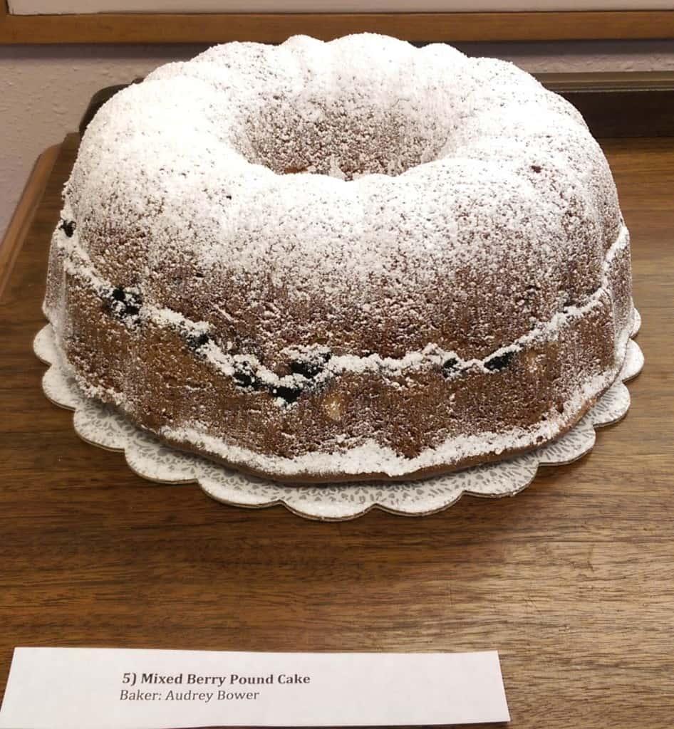 5) Mixed Berry Pound Cake